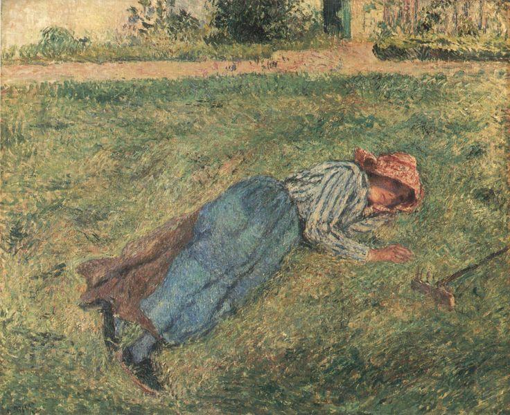 Camille Pissarro_-_Le_Repos,_paysanne_couchée_dans_l´herbe,_Pontoise_-_1882 [800x600]