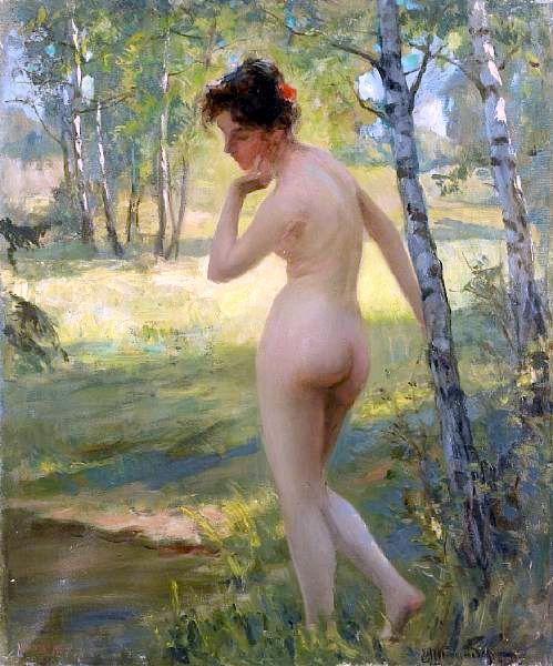 Viktor Karlovich Shtemberg standing-nude [800x600]