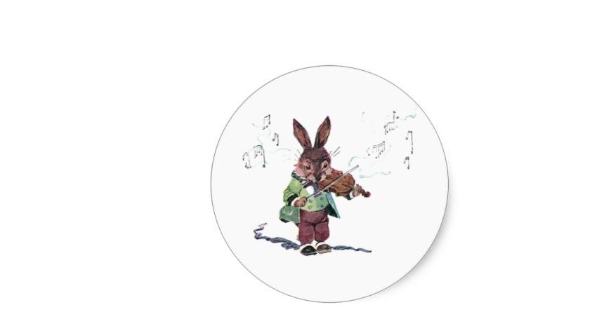 lapin violonniste