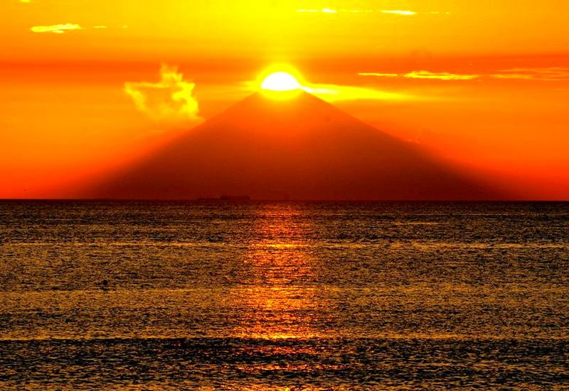 coucher de soleil Fuji [800x600] [800x600]