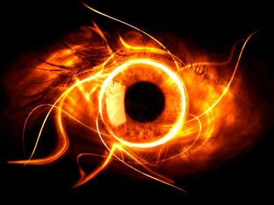 yeux de flamme