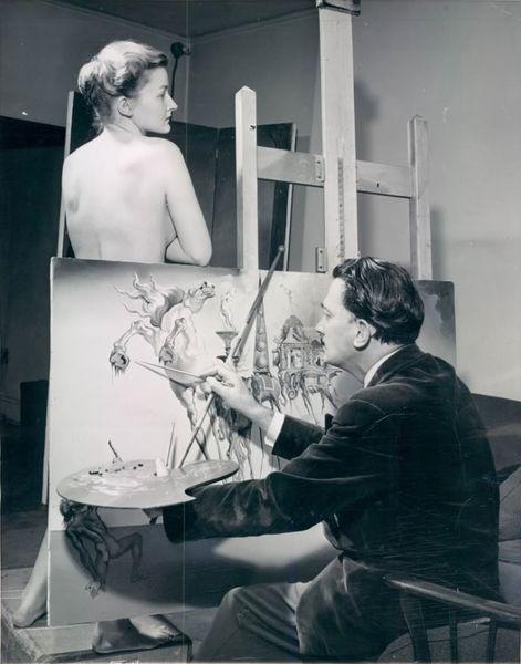 Salvador Dali, painting The Temptation of Saint Anthony  [800x600]