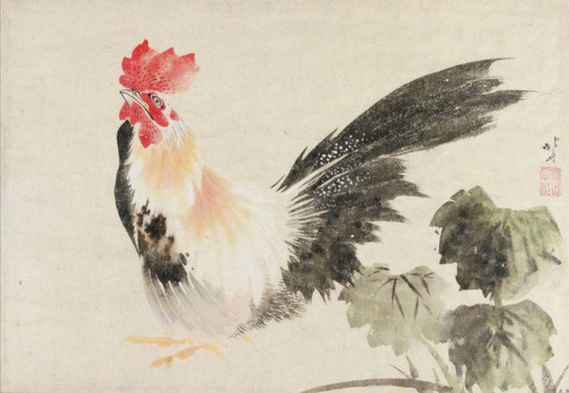 Hokusai coq [800x600]