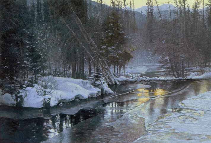 Robert Bateman_winter_suns2