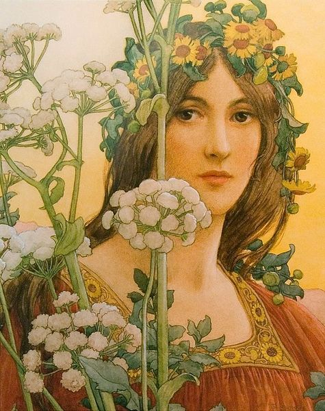 Élisabeth Sonrel _Our_Lady_of_the_Cow_Parsley [800x600]