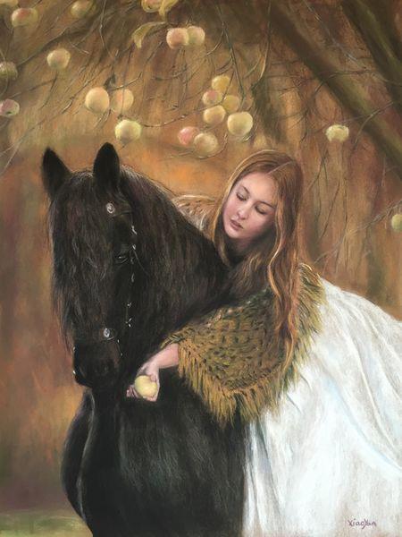 cheval jeune fille