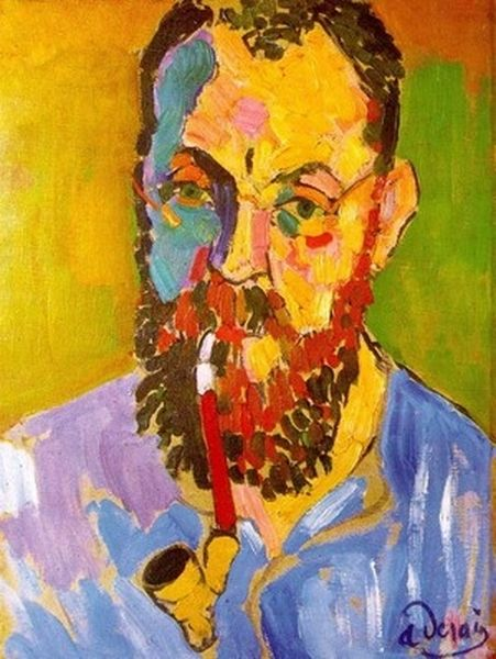 Henri Emile Benoît Matisse _selfport_with_pipe [800x600]