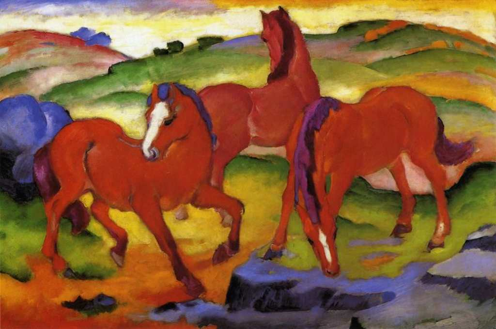 Franz Marc   the-red-horses