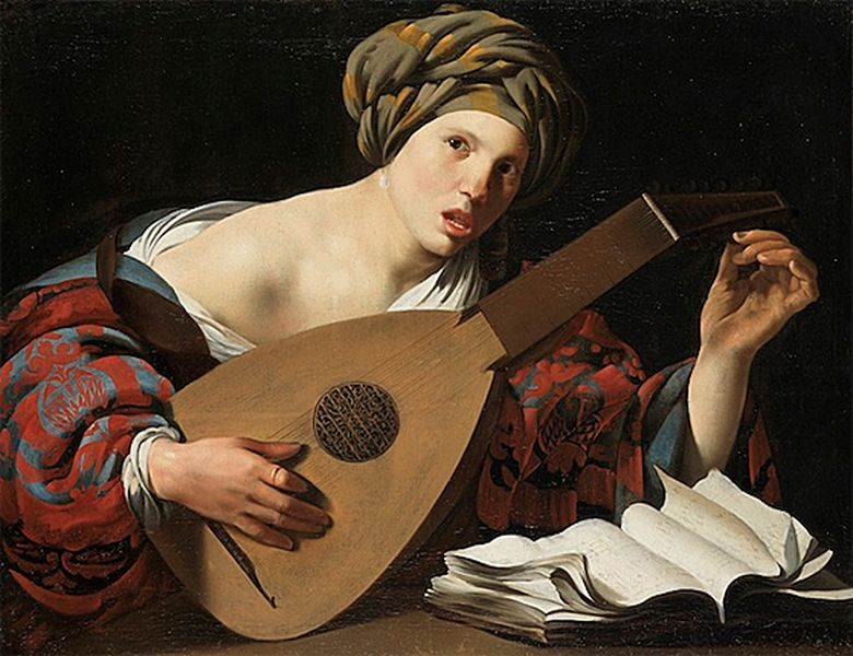 Hendrick Terbrugghen - Joueuse de luth [800x600]