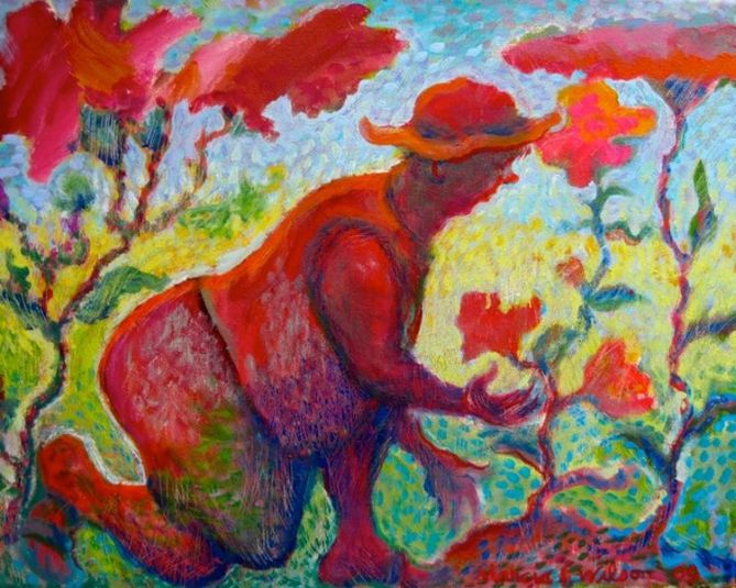 MARCIA SANDMEYER WILSON GardenerOil16x20 [800x600]
