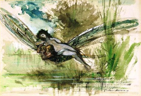 Gustave Moreau la libellule
