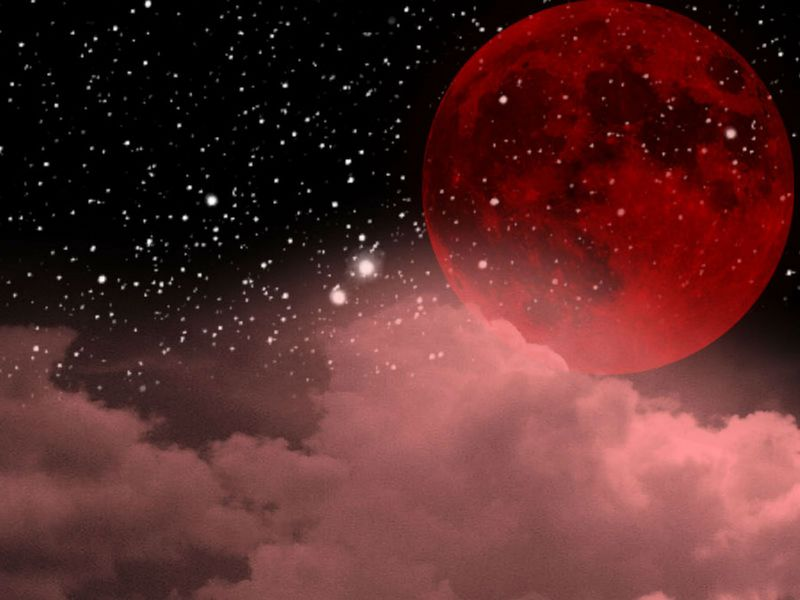 lune rouge nuage rose  [800x600]