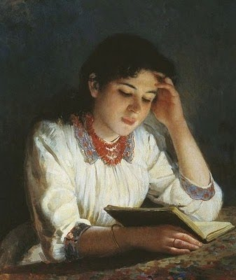 ilia-galkin-russian-artist-1860-1915-reading