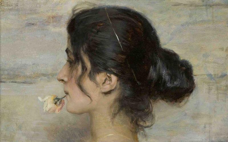 ettore-tito-femme-rose-a-la-bouche-800x600