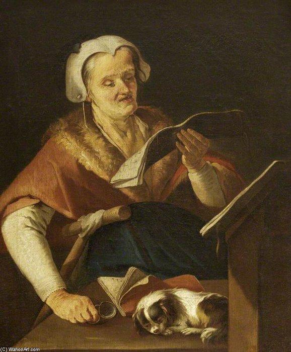 giacomo-francesco-cipper-vieille-femme-chante-et-son-chien