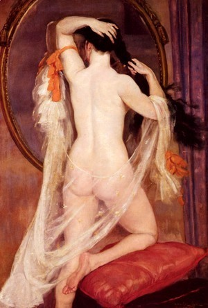 henry-caro-delvaille-nu-au-miroir-nude-before-a-mirror