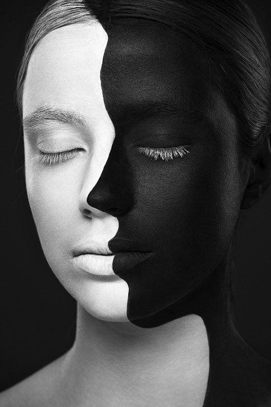 visage-blanc-et-noir