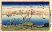 Hiroshige_Toto_Meisho_1832_Cherry_Goten_Hill_Adachi_m [640×480]